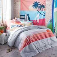 Hang Ten Sunset Stripe Twin Comforter Set in Grey
