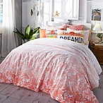 Hang Ten Ombre Hibiscus Full/Queen Comforter Set in Coral