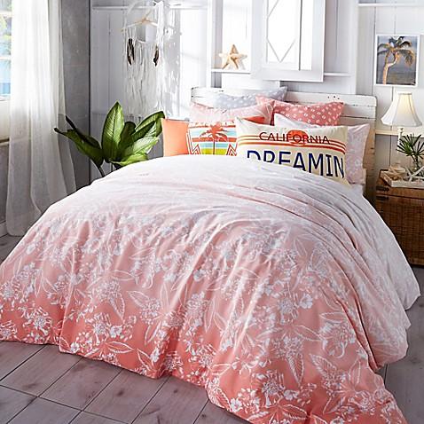 Hang Ten Ombre Hibiscus Comforter Set In Coral Bed Bath