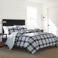 Eddie Bauer® Lewis Plaid King Duvet Cover in Navy
