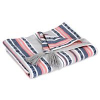 Hang Ten Pismo Beach Classic Baha Stripe Throw Blanket in Grey