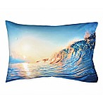 Hang Ten Woodgrain Wave Standard Pillowcase in Blue