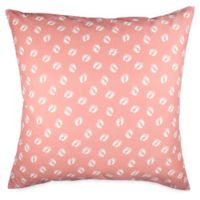 Hang Ten Woodgrain Feet European Pillow Sham in Coral