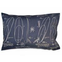 Hang Ten Sunset Stripe Surfer's Sketch Standard Pillowcase in Navy