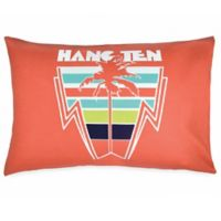 Hang Ten Ombre Hibiscus Palm Standard Pillowcase in Coral