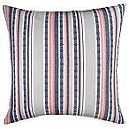 Hang Ten Surfboard Medallion Woven Stripe European Pillow Sham in Grey
