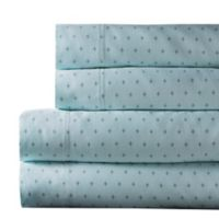 Canterbury Diamond 300-Thread-Count King Sheet Set in Blue Haze
