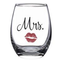 "Lillian Rose™ ""Mrs."" Lips Stemless Wine Glass"