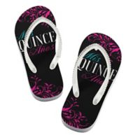 Lillian Rose™ Size Small Mis Quince Años Flip Flops in Black
