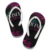 Lillian Rose™ Size Large Mis Quince Años Flip Flops in Black