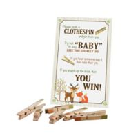 Lillian Rose™ Woodland Clothespin Baby Shower Game