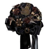 Lillian Rose™ Steampunk Wedding Bouquet in Black