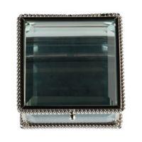 Lillian Rose™ Square Glass Ring Box in Silver