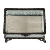 Lillian Rose™ Rustic Rectangular Glass Ring Box in Clear