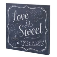 """Lillian Rose™ """"Love is Sweet Take a Treat"""" Wedding Favors Sign in Black/White"""