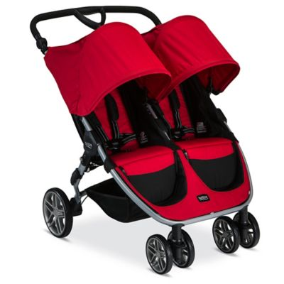 strollers britax b agile double stroller in red - Double Stroller Frame