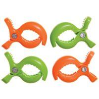 Dreambaby® Strollerbuddy® Stroller Blanket Clips Green/Orange (Set of 4)