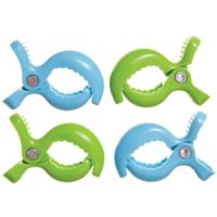 Dreambaby® Strollerbuddy® Stroller Blanket Clips in Blue/Green (Set of 4)