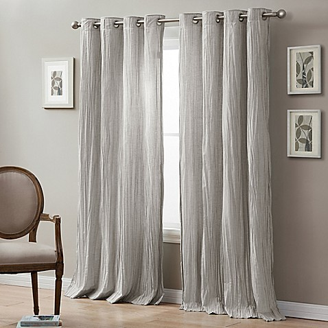 linen crinkle grommet top window curtain panel bed bath 20240 | 11914623320180g 478