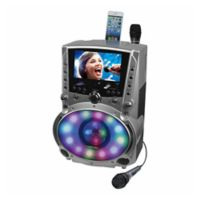 DVD/CDG/MP3G Karaoke Player with 7-Inch TFT Color Screen/Bluetooth and LED Sync Lights
