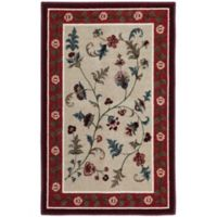 Farrah 1-Foot 8-Inch x 2-Foot 10-Inch Accent Rug in Rich Red