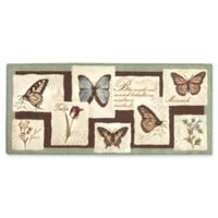 Blooms & Butterflies Multicolor 1-Foot 8-Inch x 2-Foot 10-Inch Accent Rug