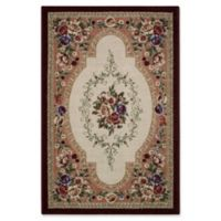 Nevaeh Floral 1-Foot 8-Inch x 2-Foot 10-Inch Accent Rug in Merlot