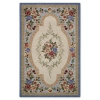 Nevaeh Floral 1-Foot 8-Inch x 2-Foot 10-Inch Accent Rug in Lapis