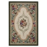 Nevaeh Floral 1-Foot 8-Inch x 2-Foot 10-Inch Accent Rug in Emerald