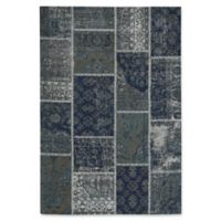 Capel Rugs Celestial Patchwork 5-Foot x 8-Foot Area Rug in Blue