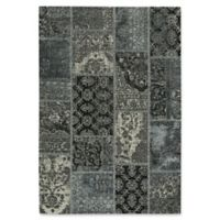 Capel Rugs Celestial Patchwork 5-Foot x 8-Foot Area Rug in Grey