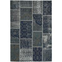 Capel Rugs Celestial Patchwork 9-Foot x 12-Foot Area Rug in Blue