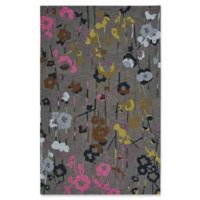 Capel Rugs Branch Floral 5-Foot x 8-Foot Area Rug in Grey
