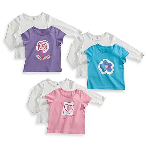 BE BASICTM Toddler Girl 2 Piece Tee Sets 100 Cotton