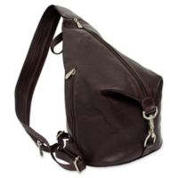 Piel® Leather 15-Inch Classic Three-Zip Hobo Sling in Chocolate
