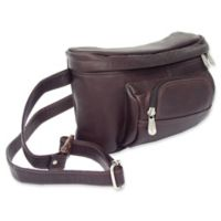 Piel® Leather Classic 10-Inch Carry-All Waist Bag in Chocolate