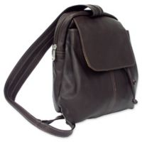 Piel® Leather 10-Inch Small Drawstring Backpack in Chocolate