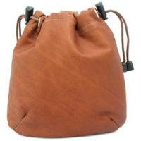 Piel® Leather Classic Drawstring Pouch in Saddle
