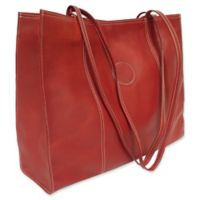 Piel® Leather Carry-All Market Bag in Red