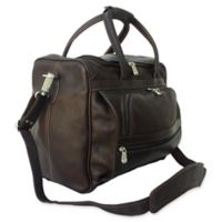 Piel® Leather 14-Inch Small Laptop Carry On Bag in Chocolate