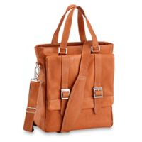 Piel® Leather 11-Inch Classic Buckle Flap-Over Shoulder Tote Bag in Saddle