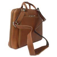 Piel® Leather 16.5-Inch Slim Modern Portfolio in Saddle
