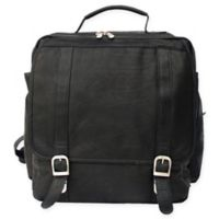 Piel® Leather 15-Inch Vertical Laptop Backpack in Black