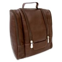 Piel® Leather 10-Inch Hanging Travel Toiletry Kit in Chocolate