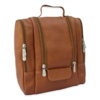 Piel® Leather 10-Inch Hanging Travel Toiletry Kit in Saddle
