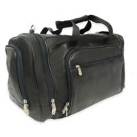Piel® Leather Classic 20-Inch Multi-Compartment Duffel Bag in Black