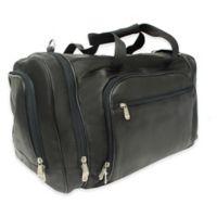 Piel® Leather Classic 20-Inch Multi-Compartment Duffel Bag in Black
