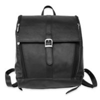 Piel® Leather Slim Laptop Backpack in Black