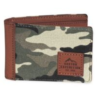 Buxton® Huntington Gear RFID Front Pocket Slimfold Passport Wallet in Camo