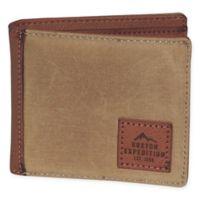 Buxton® Huntington Gear RFID Slimfold Passport Wallet in Tan